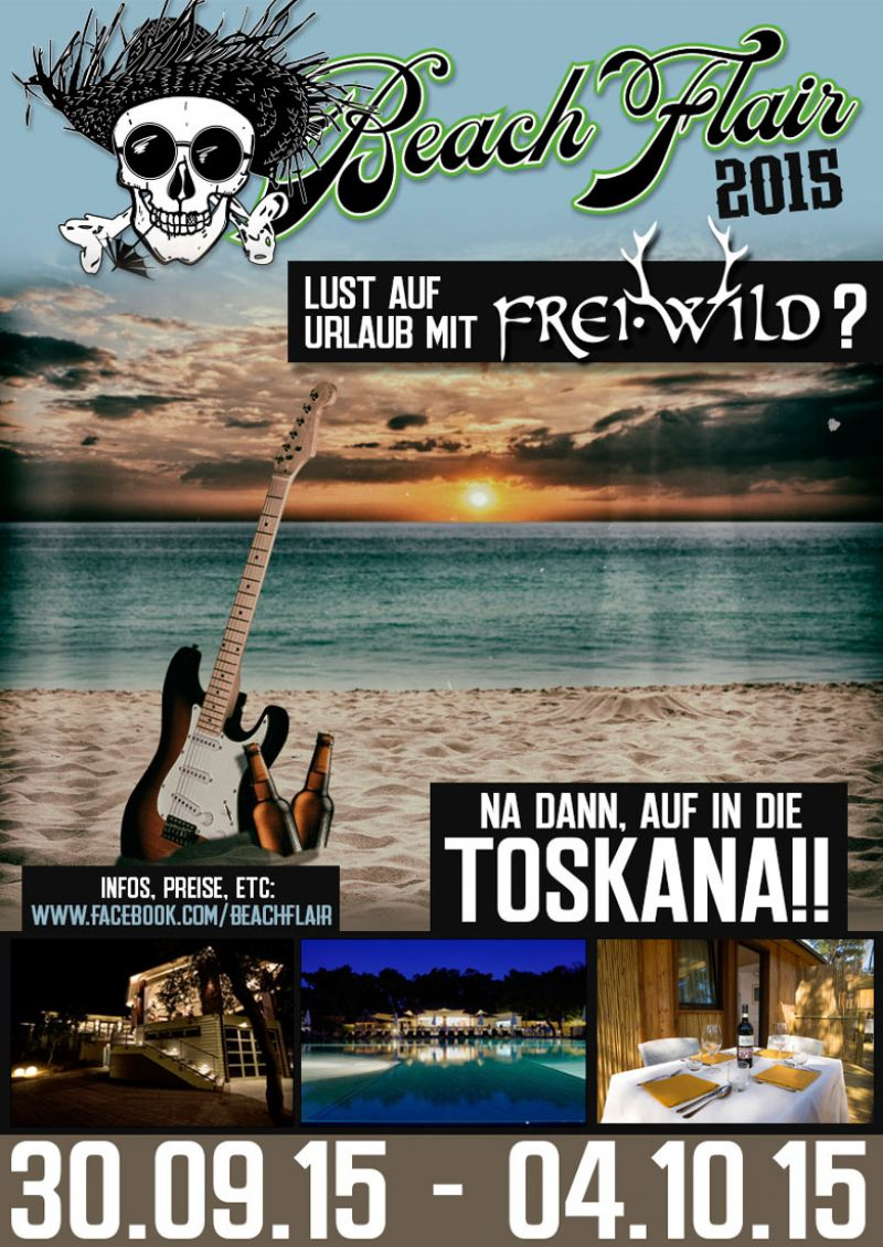 """Ab in den Urlaub""...Beach Flair 2015 in der Toskana"