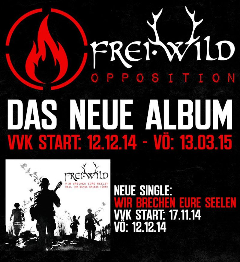 "Frei.Wild - ""OPPOSITION"" kommt, 1.Single kommt"