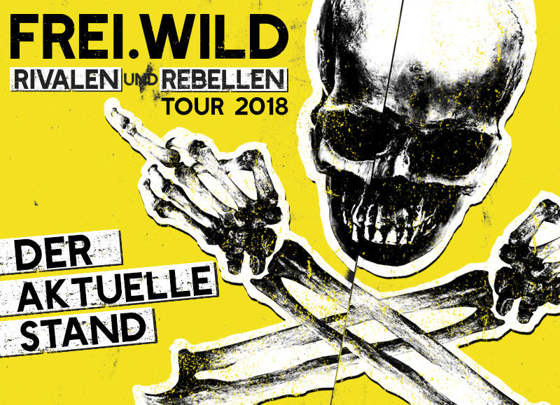 "ALLE Supportbands der ""Rivalen und Rebellen"" Tour 2018"