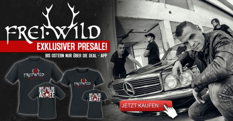 Exklusiver Opposition Merch Presale in unserer Deal App für FB, Twitter und Co.