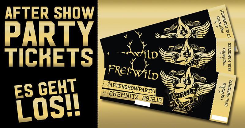 Aftershow Party Tickets Es Geht Los Blog Freiwild